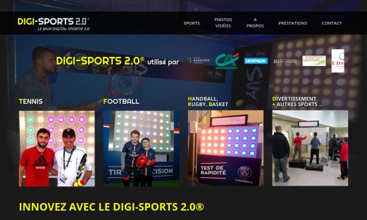 Site Digi-Sport 2.0 par Aire Libre, version desktop
