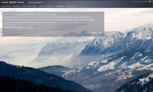 Site Nuni par Aire Libre, version desktop