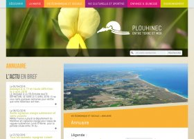 Site Ville de Plouhinec par Aire Libre, version tablette