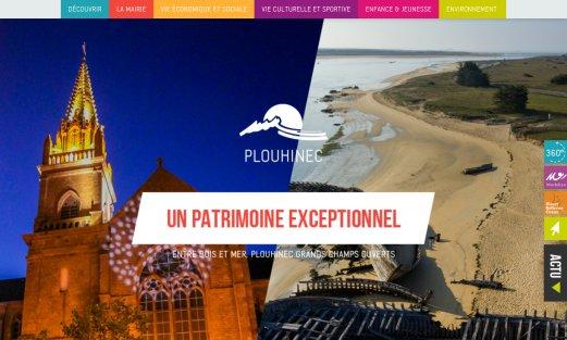 Site Ville de Plouhinec par Aire Libre, version desktop
