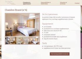Site Les Chambres du Vigneron par Aire Libre, version tablette