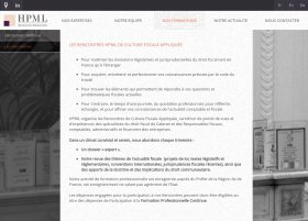Site HPML Avocats par Aire Libre, version tablette