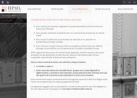 Site HPML Avocats par Aire Libre, version tablette