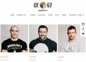 Site Crossfit 67 par Aire Libre, version tablette