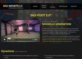 Site Digi-Sport 2.0 par Aire Libre, version tablette