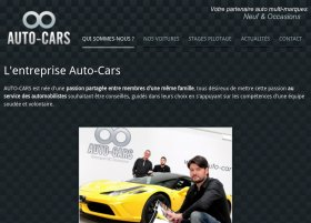 Site Auto-cars par Aire Libre, version tablette