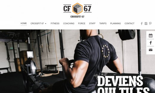 Site Crossfit 67 par Aire Libre, version desktop
