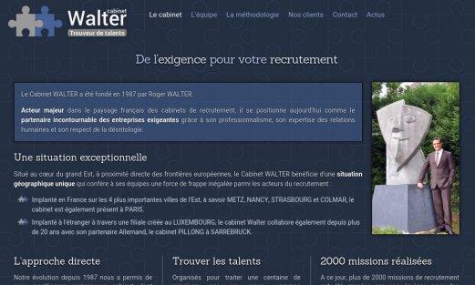Site Cabinet Walter par Aire Libre, version desktop
