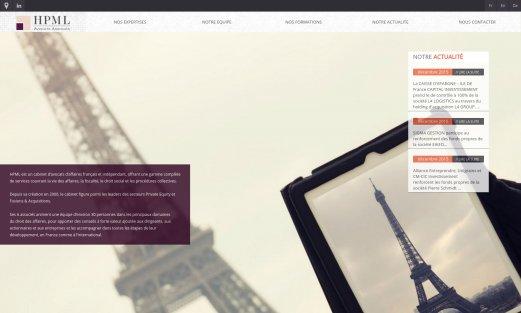 Site HPML Avocats par Aire Libre, version desktop