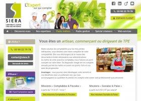 Site Siera par Aire Libre, version tablette
