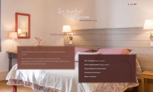 Site Les Chambres du Vigneron par Aire Libre, version desktop